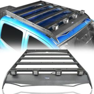 Roof Rack Luggage Carrier W 4x Led Lights For Toyota Tacoma 2005 2020 4 Door