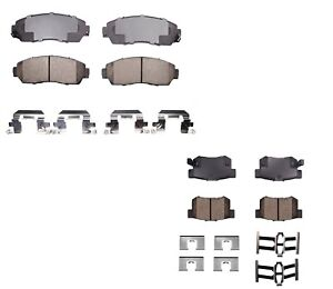 Front And Rear Omni Brake Pads Sets Kit For Acura Rdx Awd 2007 2012