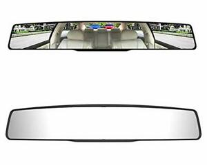 Car Rear View Mirror Universal 17 7 Panoramic Interior Clip On Rearview Mirrors