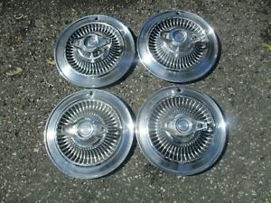 Genuine 1964 Buick Skylark 14 Inch Spinner Hubcaps Wheel Covers Set