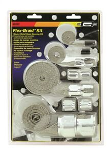 Mr Gasket 8092 Hose Cover Flex Braid Kit Silver