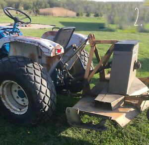 New Price Diesel Ford 1700 25 Horse 1980 small Tractor Pull Behind Finish Mower