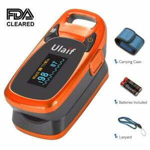 Ulaif Fingertip Pulse Oximeter Oled Portable Oximetry Blood Oxygen Saturation M