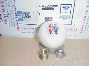 1950 s Ford Crest Custom Licenced Shift Knob white Pearl