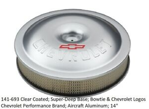 Proform 141 693 Air Cleaner Assembly Gm Performance Aluminum Round 14 X 3