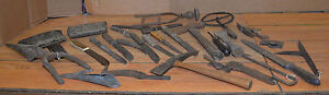 Antique Blacksmith Forged Whaling Tools Butcher Knives Scraper Pick Collectible