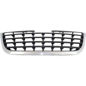 Grille Assembly For 2008 2010 Chrysler Town Country Chrome With Black Insert