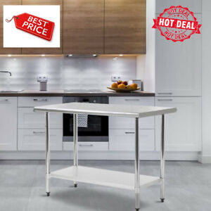 30 x60 Stainless Steel Kitchen Work Table Commercial Kitchen Restaurant Table