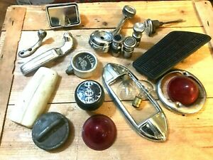 Assortment Classic Car Cigarette Lighters Trim Tail Light Gear Shift Nob Etc