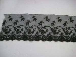Victorian Era Black Chantilly Lace 5 Ft 4 X 5