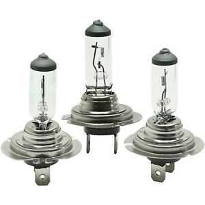 Set Of 3 Pieces Headlight Bulbs Hi Or Low Beam H7 Halogen Type