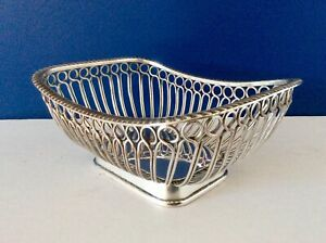 Superb 19th C Antique George Iii Old Sheffield Plate Wire Table Basket C1810