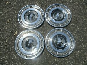 1960 Buick Lesabre Factory 15 Inch Hubcaps Wheel Covers Set