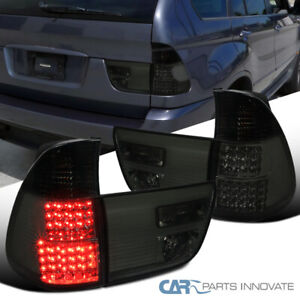 For 00 06 Bmw E53 X5 Led Smoke Rear Tail Brake Lamps Tinted Parking Trunk Lights