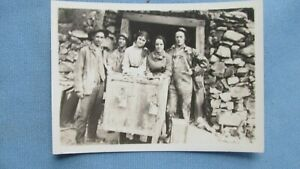 1890 S Era Mining Ore Car Miners Family Original Print Photograph Colorado