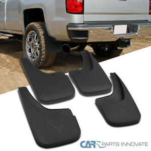 Gmc 14 18 Sierra Pickup Black Abs Front Rear Mud Flaps Splash Guards Mudguard