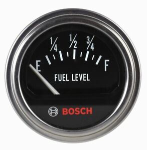 Bosch 2 Fuel Level Gauge Retro Black Chrome Bezel Fst7950 Authorized Dist