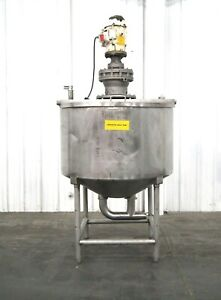 Mo 3001 Walker 380 Gallon Stainless Single Wall Side Sweep Mixing Tank