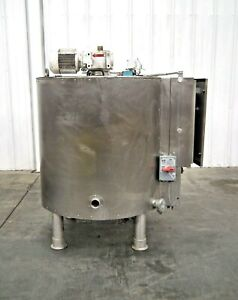Mo 3045 Stainless Steel 160 Gallon Jacketed Mix Tank