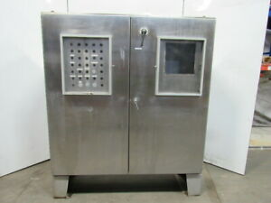 Free Standing Stainless Steel Electrical Enclosure 72x72x20 W backplate