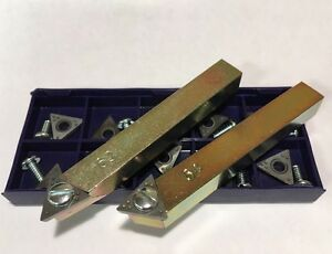 Positive Rake Bit Holder Set Bits For Fmc 601 Brake Lathe New