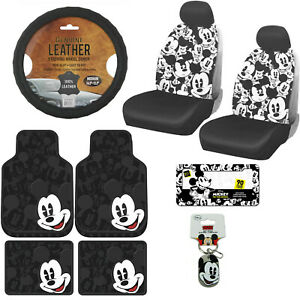 13pc Disney Mickey Mouse Car Truck Floor Mats Seat Covers Steering Wheel Cover