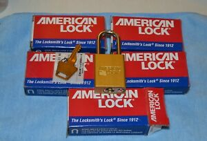 5 American Lock A1106kalwks Keyed Alike Lockout Padlock Yellow 1 7 8 Lot