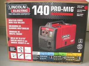 Lincoln Mig Flux cored Wire Feed Welder k2480 1 electric 120 volt 140 amp