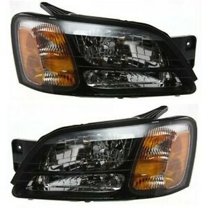 Headlight Set For 2000 2004 Subaru Outback 2003 2006 Baja Lh Rh W Bulb