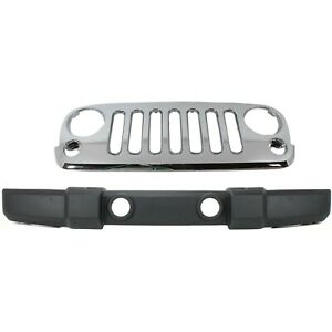 Bumper Cover Kit For 2007 2016 Jeep Wrangler Front Standard Duty Bumper Cover