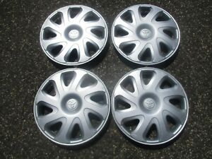 Genuine 1993 To 2002 Toyota Corolla 14 Inch Hubcaps Wheel Covers Beaters