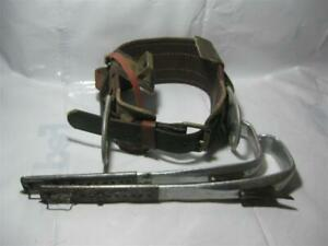 79 Vintage Buckingham 474s Lineman Climbing Body Belt Bashlin Stirrup Climbers