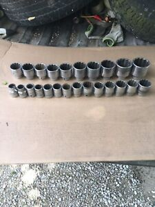 S K Snap On 24 Piece 3 4 Drive Socket Set 3 4 To 21 4 Free Shipping In Usa