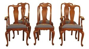 47415ec Set Of 6 Henkel Harris Cherry Dining Chairs W Needlepoint