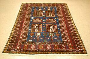 Pre 1900 S Antique Caucasian Shirvan Rug 4 4x6 7 From A Private Collection