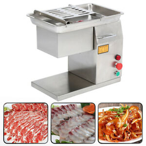 550w Stainless Steel Meat Machine Slicer Slicing Commercial Cutter 250kg h
