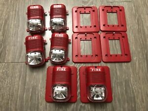 System Sensor P2475 And P241575 Fire Alarm Horn Strobe Lot Of 6