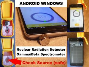 Nuclear Radiation Detector Counter Gamma Beta Spectrometer For Android Windows