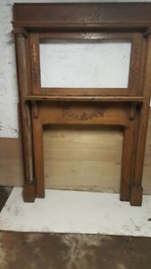 Antique Wood Fireplace Mantle 1500