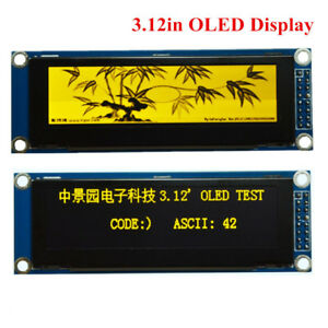3 12in Oled Display Module Spi Interface 256x64 Ssd1322 For Arduino Stm32 51