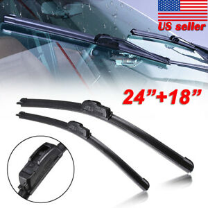 Premium 24 18 Windshield Wiper Blades Bracketless J Hook Oem Quality New