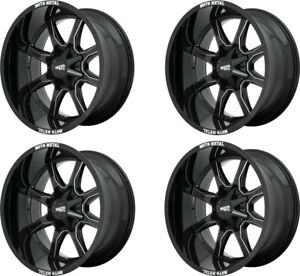 Set 4 17 Moto Metal Mo970 17x8 8x170 Gloss Black Ford F250 F350 Truck Rims 0mm