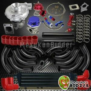 Universal T3 t4 12pc Piping Red Coupler 63ar 400 hp Turbo Charger Upgrade Kit