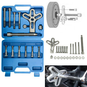 23pcs Harmonic Balancer Steering Wheel Puller Crankshaft Kit Portable Car Steel