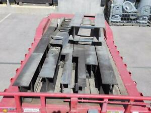 Lot Of 9 Heavy Duty Structural I Beams around 15 Ft Long T138083