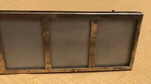 Vintage Towle Sterling Silver Glass 4 Wallet Size Picture Frame Number 191