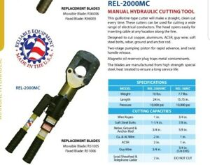 Hydraulic Cable Cutter Reliable Equipment Rel 2000mc