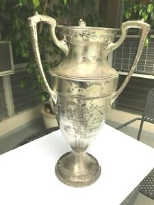 Huge Deco Trophy Loving Cup 23 24 Tall Rare Ending Soon To Be Shipped Out