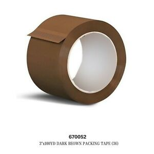 Lot Of 36pcs 3 x 100 Yd Dark Brown Packing Tape Whole Sale