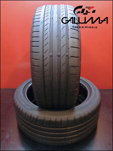 2 Two Tires Nice Continental 225 45 18 Contisportcontact5 91y Runflat Bmw 50011